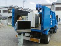 家電リサイクル品 収集作業中