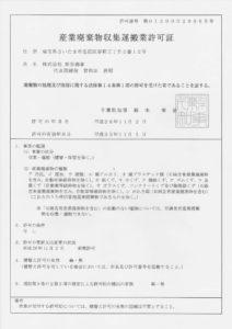 千葉県知事許可 第01200029865号