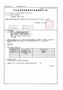 埼玉県特管物許可 1150029865